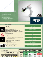A Market Research Project on Sports Shoes