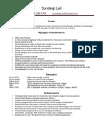 sundeep-resume december 2016