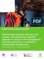 Relationships Between Recovery and Relapse, and Default and Repeated Episodes of Default in the Management of Acute Malnutrition in Children in Humanitarian Emergencies