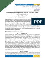 Clustering dispersion of malaria disease in Saravan of Iran by data mining analysis