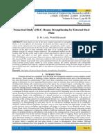 Numerical Study of R.C. Beams Strengthening by External Steel Plate