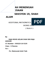 Additional Mathematics Project 4 (completed)