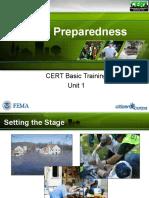 PPT CERT Unit 1 Disaster Preparedness