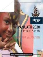 Vanuatu 2030 - The People's Plan ~ National Sustainable Development Plan 2016 to 2030 - Nov 2016