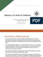 Informe Junta de Gobierno - 20 de Marzo de 2017