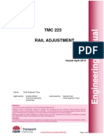 Rail Adjustment - Engineering Manual