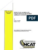 Effect of Aggregate Gradation on Measured Asphalt Content