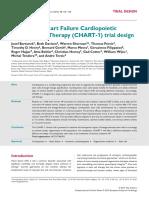 Bartunek Congestive Heart Failure Cardiopoietic Regenerative Therapy (CHART 1) Trial Design European Journal Heart Failure 2016