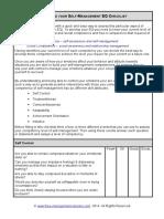 Fme Self Management Checklist