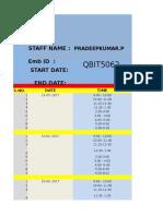 Qbitronics Work Sheet Day -Pradeep