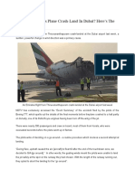 Emirates Boeing 777 Crash