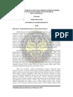 Jurnal Pengaruh Pengembangan Pegawai Terhadap Prestasi Kerja Pegawai