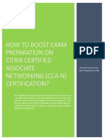 Certification Guide on Citrix Certified Associate Networking (CCA-N) 1Y0-253 Exam