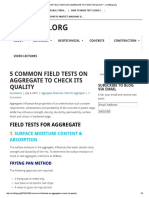 5 Common Field Tests on Aggregate to Check Its Quality - Civilblog
