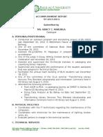 Accomplishment Report 2013-2014
