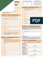Application Form Nz