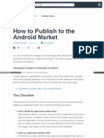 How to Publish to the Android Market