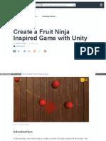 Create a Fruit Ninja Inspired Game