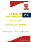 sixth form open evening booklet 2016