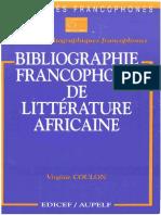 Bibliographie Francophone de Littérature Africaine Content