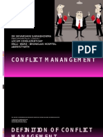 Conflict Management 20th March 2017