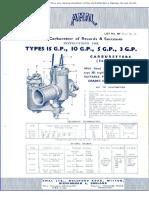 Amal Carburador Type 15GP-10GP-5GP-3GP Instrucciones Ingles 0028