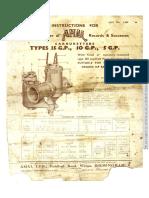 Amal Carburador Type 15GP-10GP-5GP Instrucciones Ingles 5221