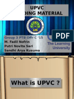 Upvc roof construction