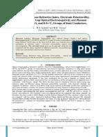 Relationship between Refractive Index, Electronic Polarizavility, Optical Energy Gap Optical Electronegativity and Plasmon Energy in I-Iii-Vi2 and Ii-Iv-V2 Groups of Semi Conductors.