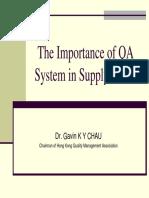 Vendor Evaluation and QC Sampling