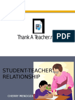 Education and Socialization_Student Teacher Relationship