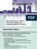 ISP Architecture MPLS Overvew Design and Implementation for WISPs WISP America 2016.Pptx Autosaved
