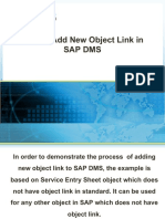 How to add new Object Links in SAP DMS