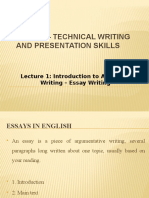Lecture 3 Essay Writing