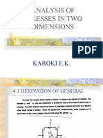 Analysis of Stresses in Two Dimensions