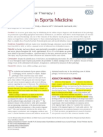 Groin Injuries and Sport Medicine