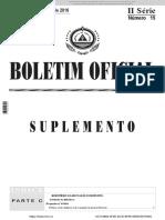 B O Suplemento n º 15 - II Serie - 13 04 2016
