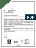 2015 Letter SVK & CV Summary New