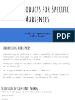media products for specific audiences