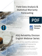Field Data Analysis & Statistical Warranty Forecasting
