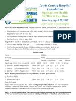 2017 Walk Run Registration Form