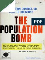 The Population Bomb Paul Ehrlich