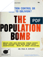 The Population Bomb Paul Ehrlich