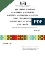 Fijación en optometría