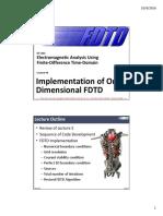 Lecture 6 -- Implementation of 1D FDTD