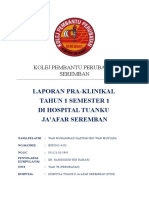 Cover Report Pra-klinikal