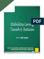 Stabilitas Lereng Tanah & Batuan
