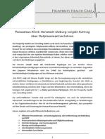 Paracelsus Klinik Henstedt-Ulzburg vergibt Auftrag über Outplacementverfahren