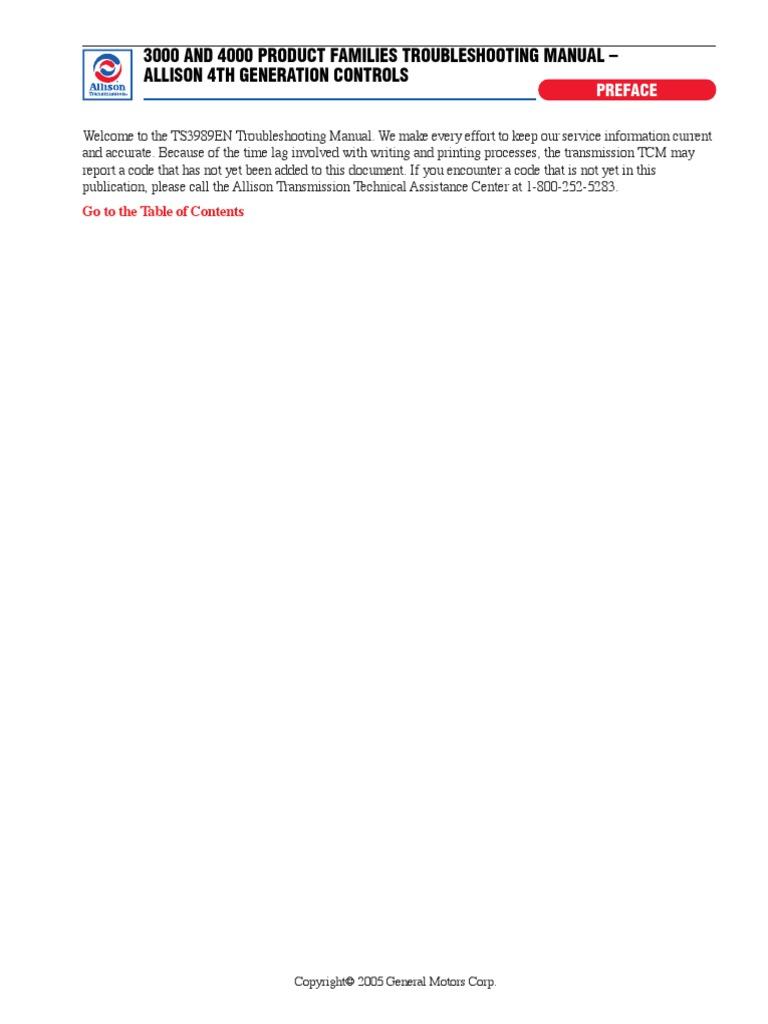 allison trans pdf manual transmission transmission mechanics rh es scribd com Allison Transmission Problems Allison Transmission Code P0847