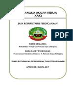 KAK Perencanaan Trotoar Jl. Pemuda Cepu (Tahapan)